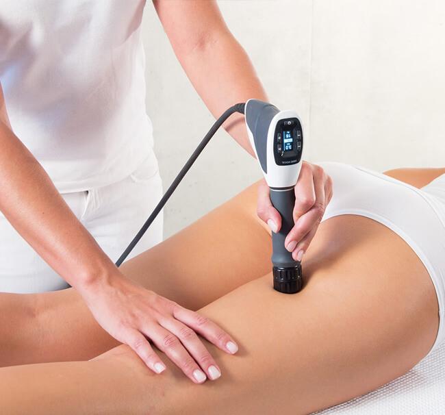 Cellulite Behandlung Funktionsgrafik mit Stosswelle