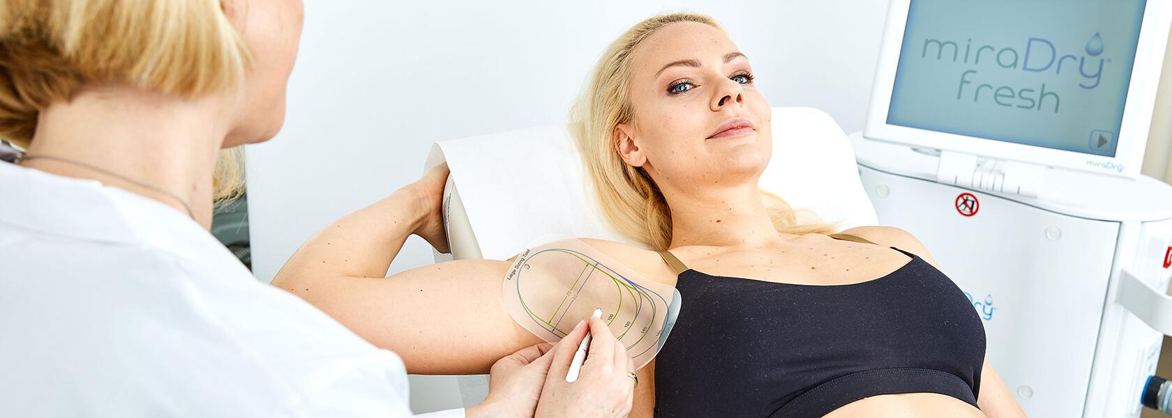 Hyperhidrose, Hyperhidrose Behandlung, miradry, die dauerhafte Lösung gegen Achsel Schweiß