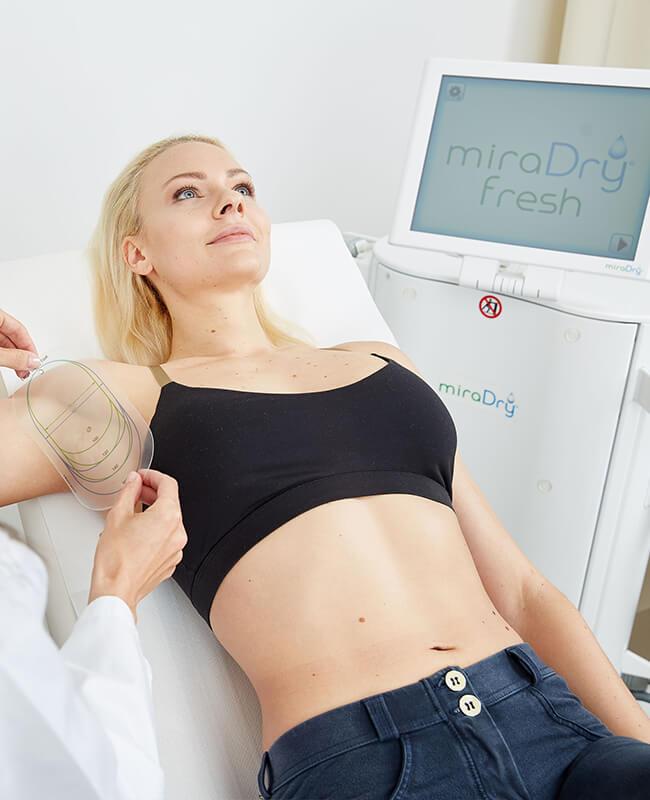 Miradry Behandlung gegen übermässiges Achselschwitzen. Miradry Linz