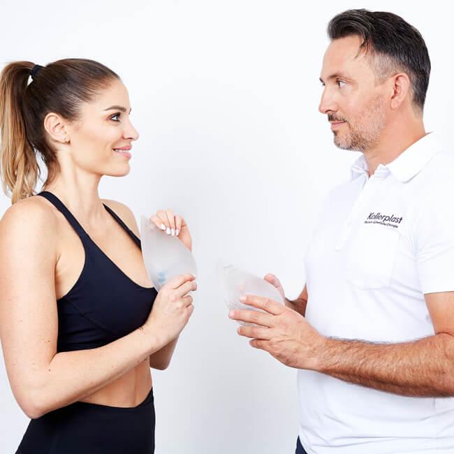 Schönheitsoperationen, Brustvergrößerung bei Sportlerinnen, eigene Operationstechnik inklusive B-Lite Leichtimplantate - direkt in Linz.